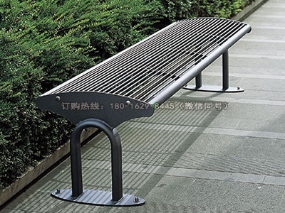 凌胜精品钢结构城市座椅-雅悠·中国垃圾桶制造专家
